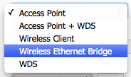 Setup Wireless Ethernet Bridge - Bridge Mode Setup